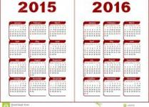 Image of New Calendar for 2015-2016