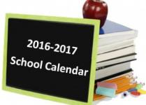 Image of New Calendar for 2016-17