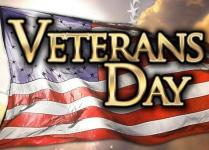 No School Friday, November 10th Veteran's Day Observed